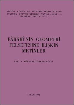 Fârâbi`nin Geometri Felsefesine İlişkin Metinler, 1992