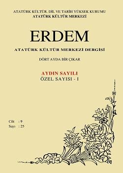 Erdem Dergisi 25 Aydın Sayılı Özel Sayısı - I, 1996