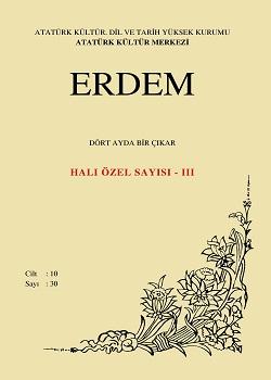 Erdem Dergisi 30 Halı- Kilim Özel Sayısı - III, 1999
