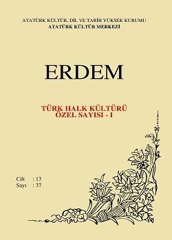 Erdem Dergisi  Türk Halk Kültürü Özel Sayısı - I, 2001