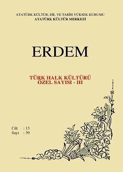 Erdem Dergisi  Türk Halk Kültürü Özel Sayısı - III, 2001