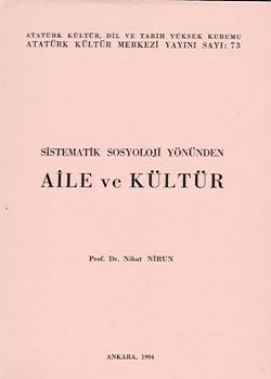 Sistematik Sosyoloji Yönünden Aile ve Kültür, 1994