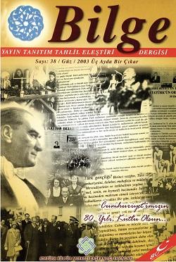 Bilge Dergisi 38, 2003