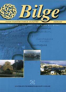 Bilge Dergisi 29, 2001