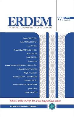 Erdem Dergisi Bilim Tarihi ve Prof. Dr. Fuat Sezgin Özel Sayısı, 2019